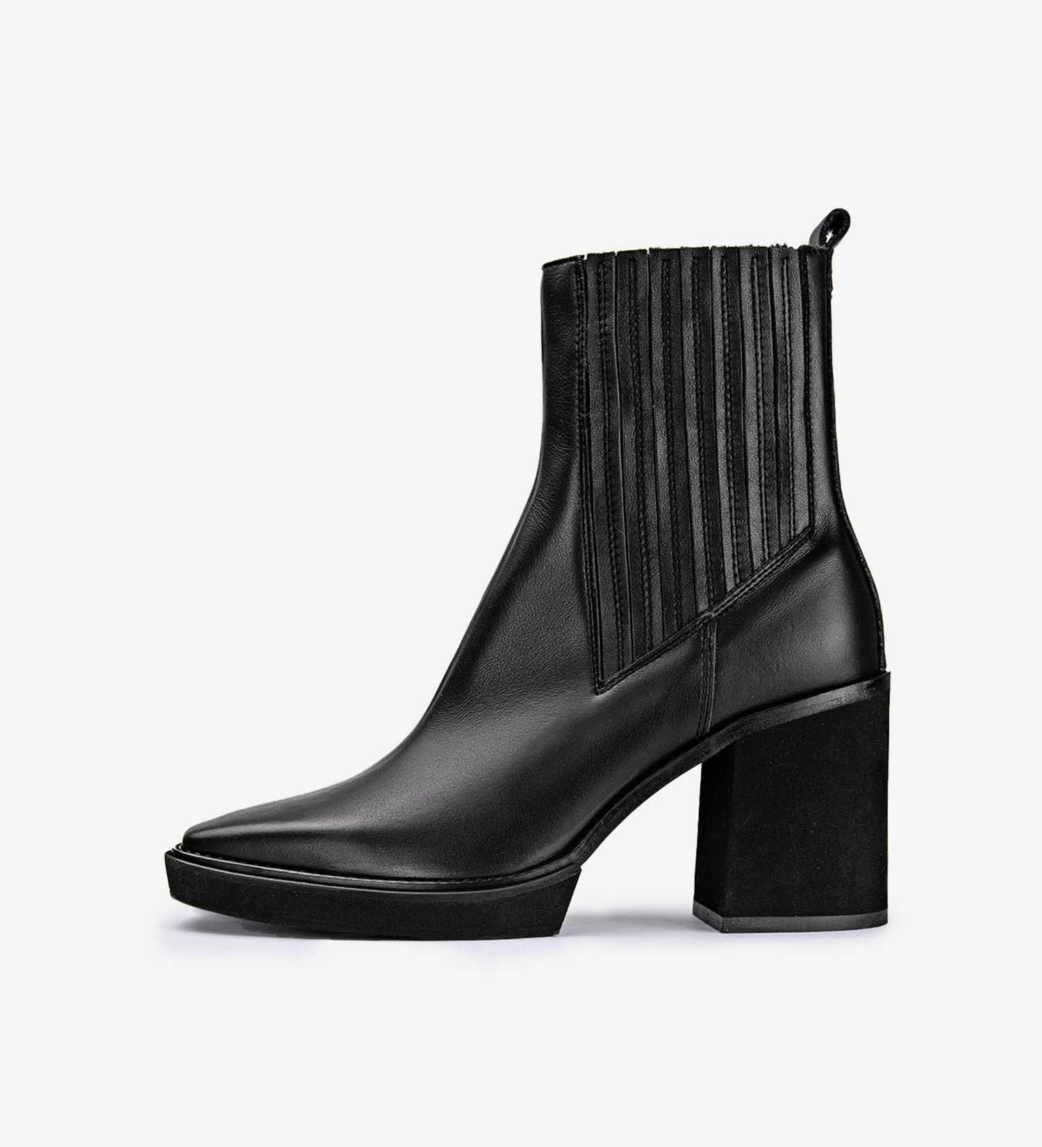 Ankle Boots Laura Leather Black