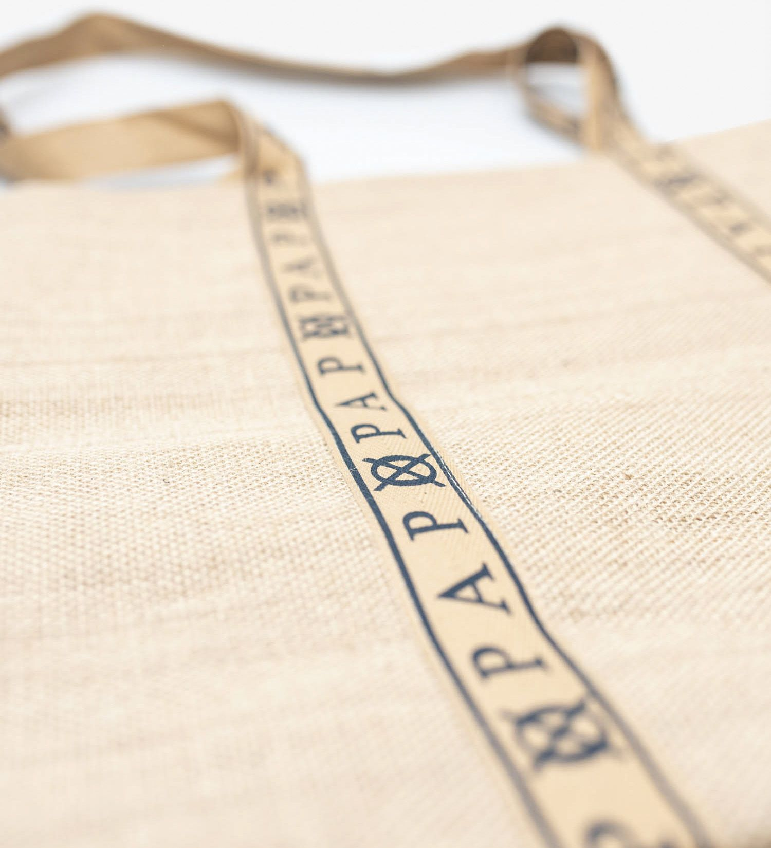 Audrey Navy and Jute Tote Bag